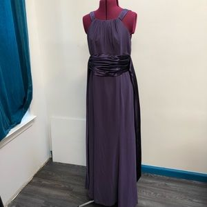 Bridesmaid dress deep purple F12732